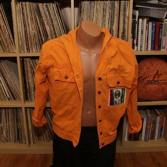 Cross Colours Jackets Coats Vintage Orange Jacket Poshmark